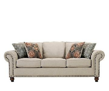 Raymour & Flanigan Beige Fabric Couch