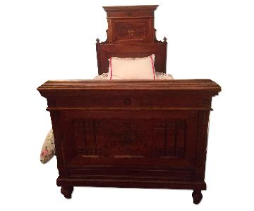 ABC Carpet and Home Antique Austrian Headboard & Footboard
