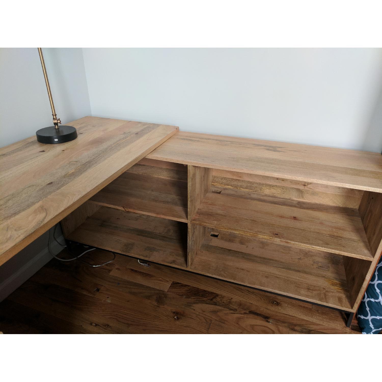 ... West Elm Industrial Storage Modular Desk 3