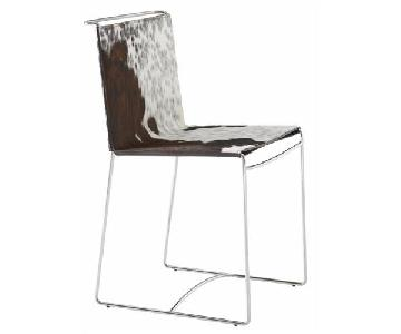 Ligne Roset Fil Cowhide Dining Chairs
