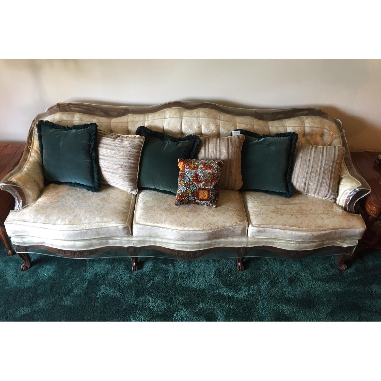Vintage Victorian 3 Seater Sofa + Loveseat + Chair-0