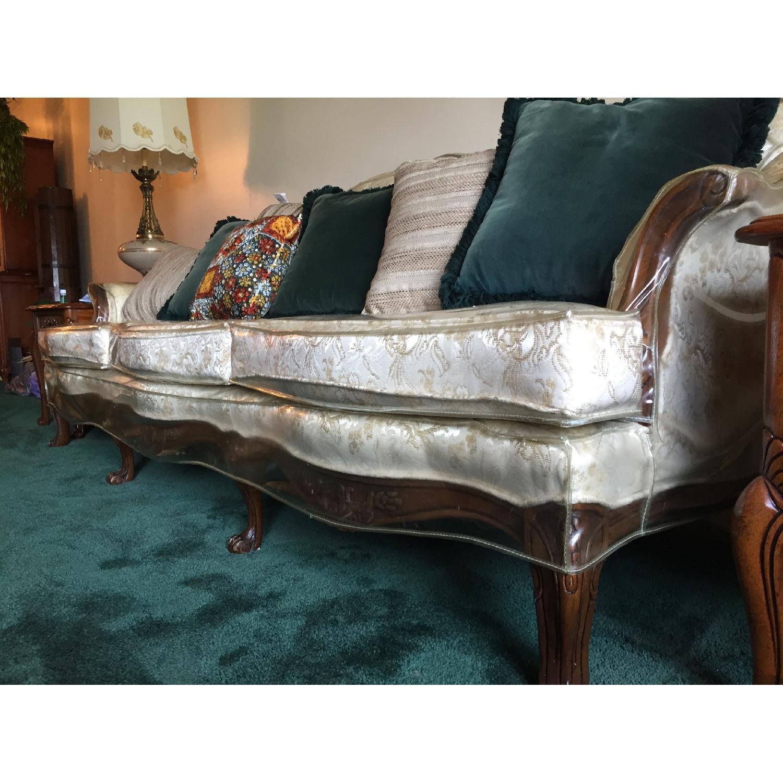 Vintage Victorian 3 Seater Sofa + Loveseat + Chair-1