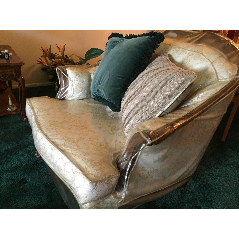 Vintage Victorian 3 Seater Sofa + Loveseat + Chair-3