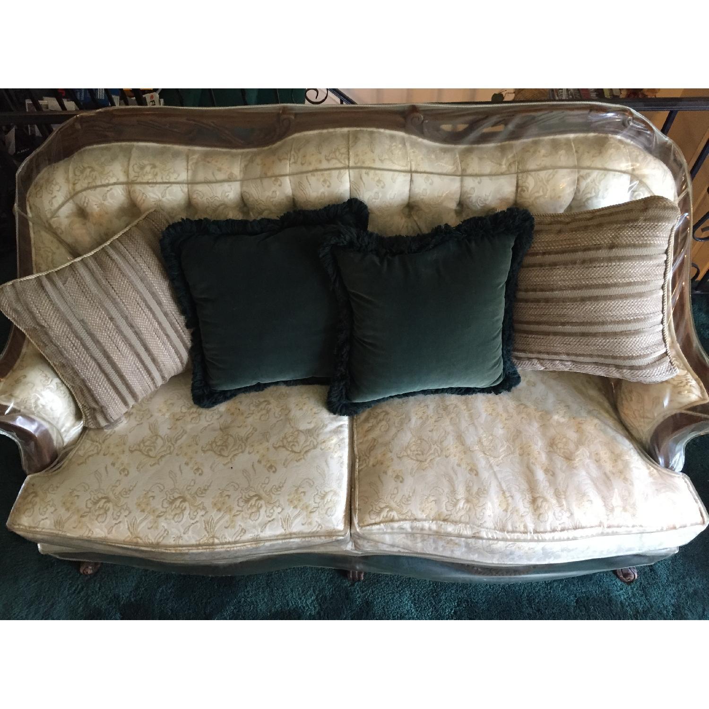 Vintage Victorian 3 Seater Sofa + Loveseat + Chair-7
