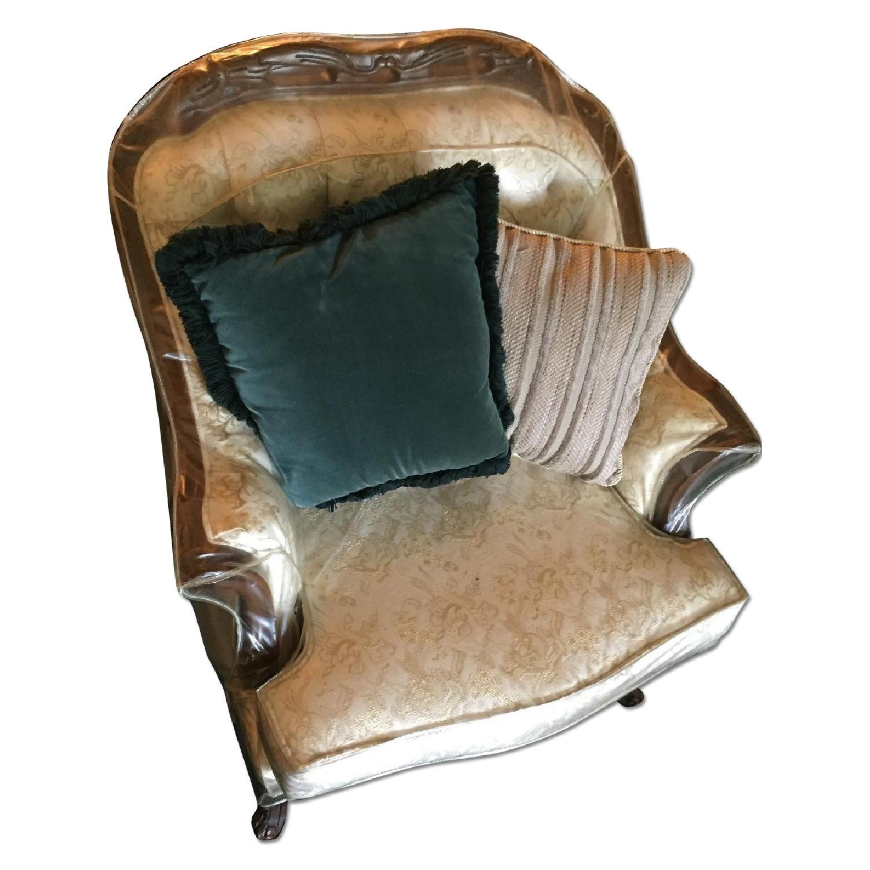 Vintage Victorian 3 Seater Sofa + Loveseat + Chair-8