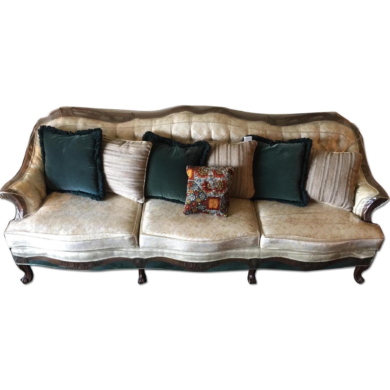Vintage Victorian 3 Seater Sofa + Loveseat + Chair