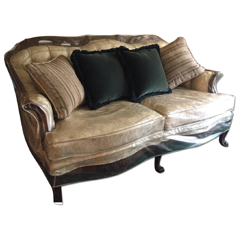 Vintage Victorian 3 Seater Sofa + Loveseat + Chair-9