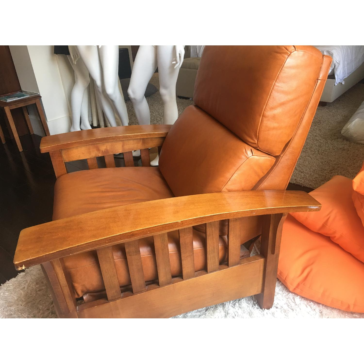 ... Ethan Allen Mission Style Leather Recliner 1 ...