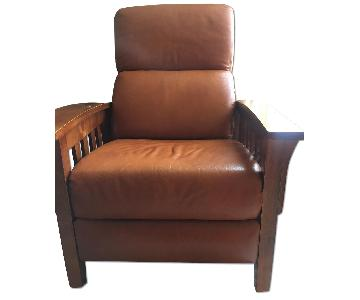 Ethan Allen Mission Style Leather Recliner