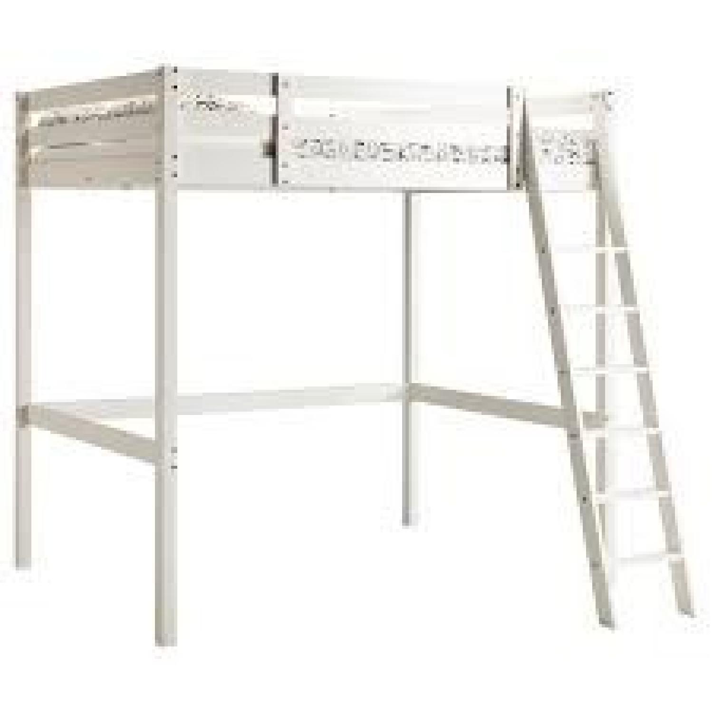 Picture of: Ikea Stora White Loft Bed Aptdeco