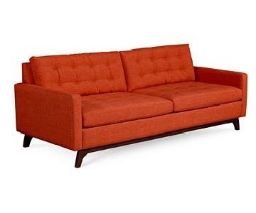 Macy's Mid Century Modern Karlie Fabric Sofa