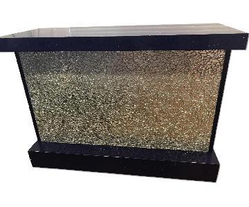 Speckled Caesar Stone & Mosaic Mirror Storage Bar