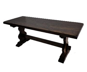 French Oak Trestle Dining Table
