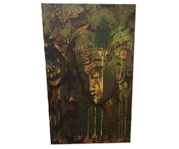 CB2 Parvez Michel's Buddha Painting on Canvas