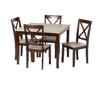 Andover Mills Tilley Rustic 5 Piece Dining Set