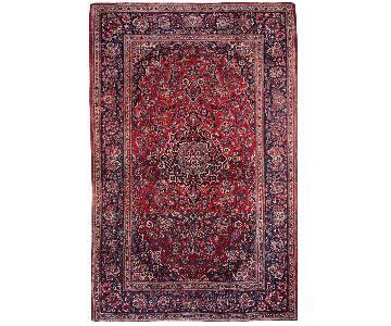 Antique 1920s Persian Kashan Rug