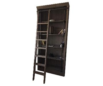 ABC Carpet and Home Grey Wood Bookcase w/ Ladder