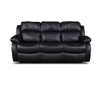 Bob's Faux Leather Recliner Sofa