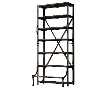 Restoration Hardware French Library Shelving w/ Step