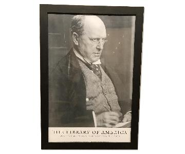 Library of America Poster - Framed Photograph of Henry James