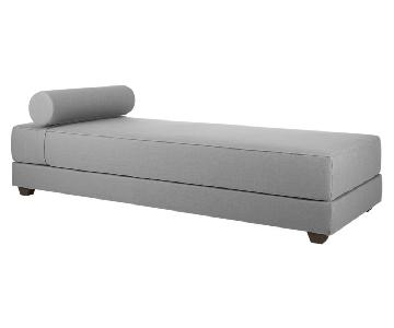 CB2 Lubi Sleeper Daybed in Silver Grey