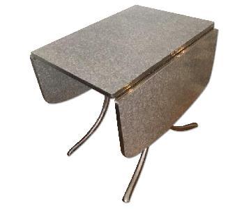 Daystrom Vintage Chrome & Formica Drop Leaf Dining Table
