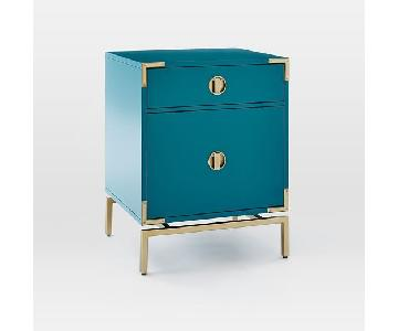 West Elm Modern Turquoise Malone Nightstand