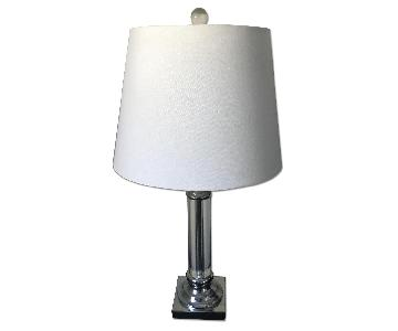 Joss & Main Silver/Crystal Table Lamps w/ White Shade