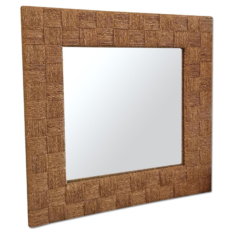 West Elm Wicker Mirror