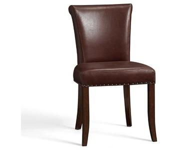 Pottery Barn Spencer Leather Side Chair