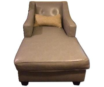 Bob's Leather Chaise Lounge