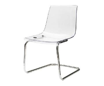 Ikea Tobias Chrome Plated Acrylic/Clear Chair