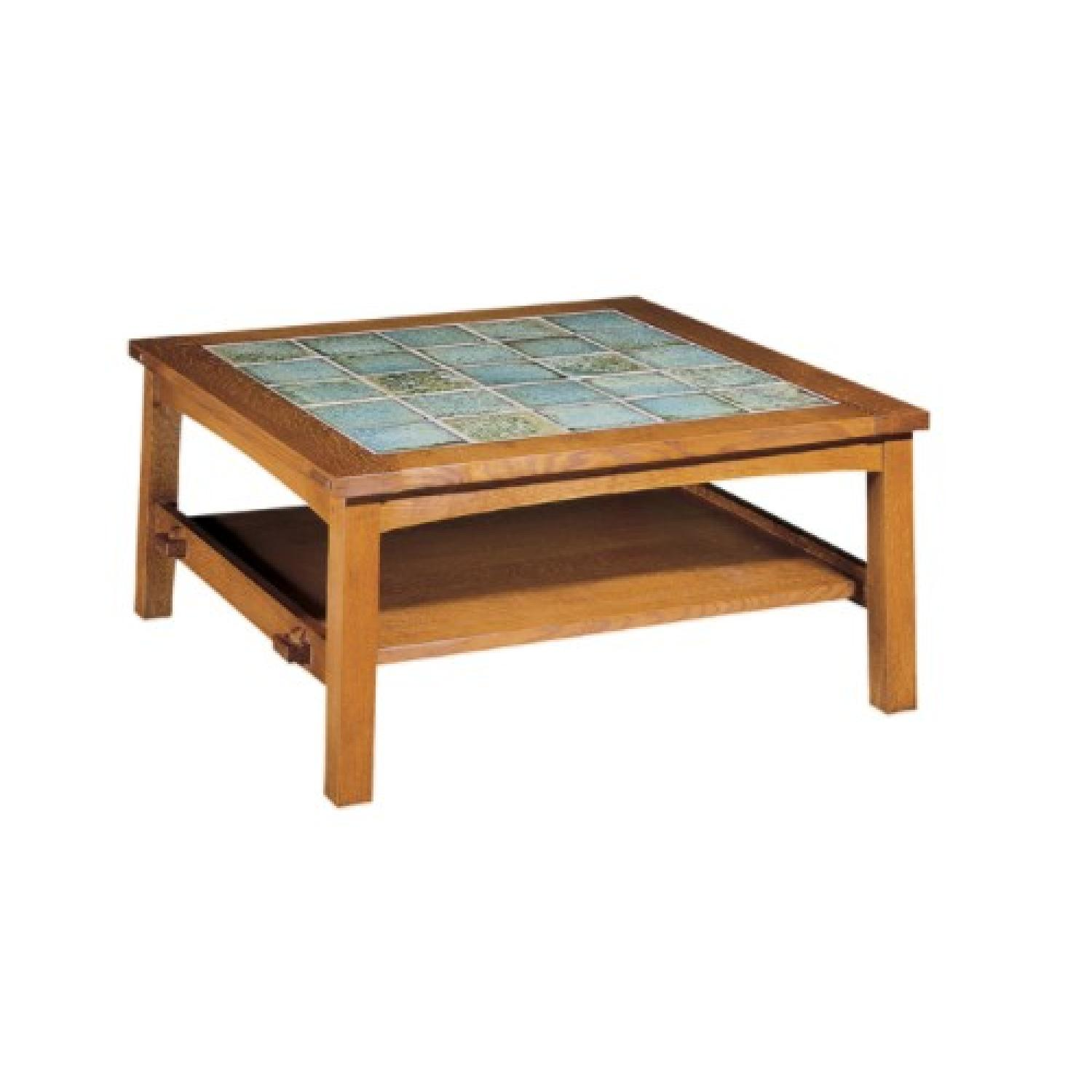 Stickley Cherry U0026 Tile Coffee Table ...