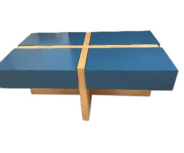 Wonk Furniture Mod Quad Wood & Lacquer Coffee Table