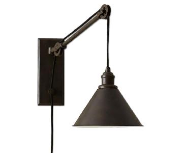 Pottery Barn Plug-in Wall Sconces