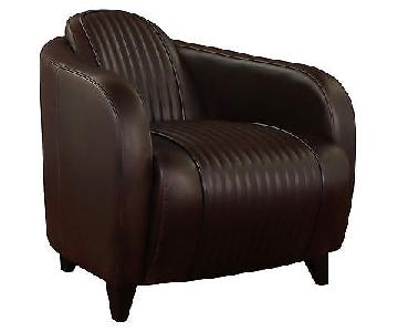 Mark Jupiter Vintage Accent Chair in Tobacco