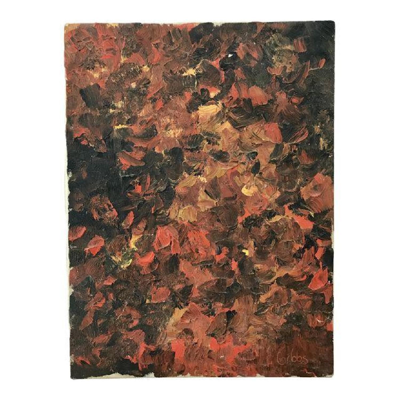 Mid Century Abstract Painting - Impasto
