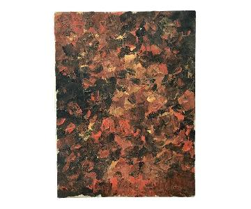 Mid Century Abstract Painting - Impasto