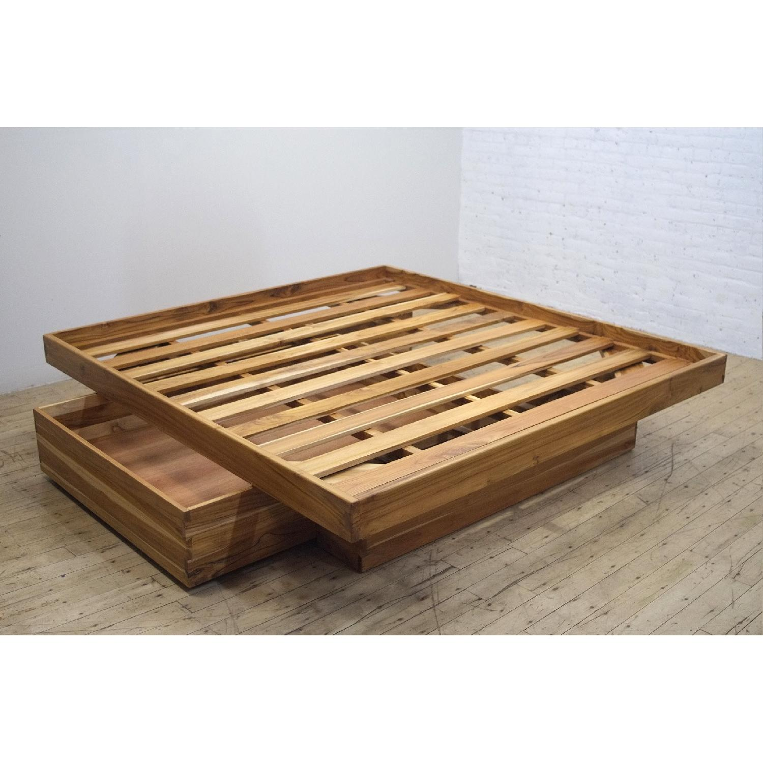 From The Source Wood Floating Bed W Headboard Aptdeco
