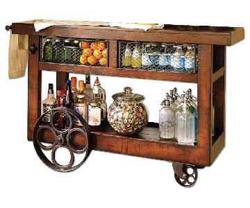 Pottery Barn Wooden Bar Cart