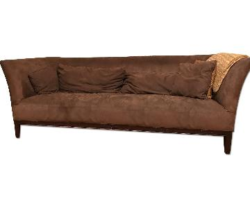 ABC Carpet and Home Brown Microsuede Couch