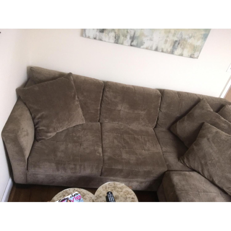 Best of elliot fabric microfiber sectional sofa 2 piece for Elliot fabric microfiber 2 piece sectional sofa