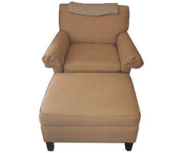 Calico Corners Custom Arm Chair & Ottoman