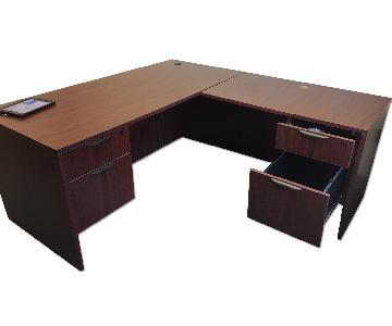 Mahogany L Shaped Desk
