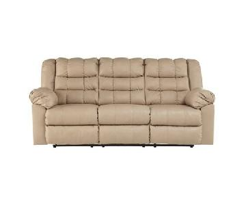 Ashley Brolayne Leather Recliner Sofa