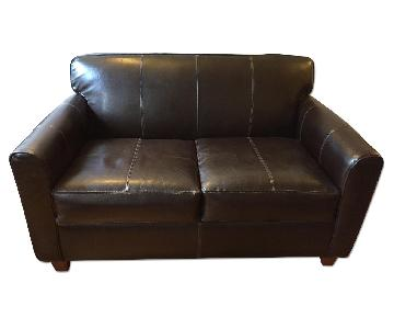 Jennifer Convertibles Leather Sleeper Loveseat