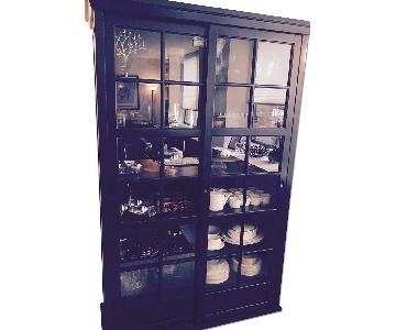 Pottery Barn Garrett Glass Cabinet