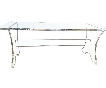 Vintage 70's Lucite Bench