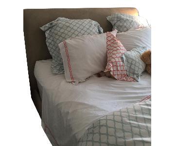 Crate & Barrel Fairmont Upholstered Queen Bed