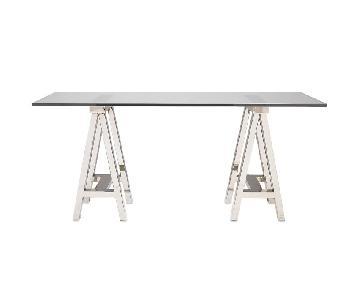 WIlliams-Sonoma Home Mason Glass Top Desk/Table